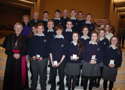 Presentation of John Paul 2 Merit Awards, Basilica, Knock, Thurs