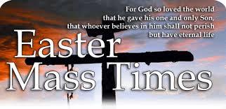 easter mass times